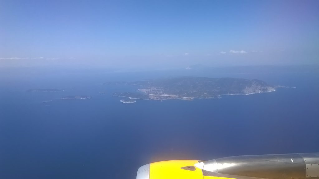 Skiathos from the air shortly before landing