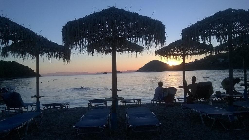 Sunset from Panormos - Ηλιοβασίλεμα από τον Πάνορμο.