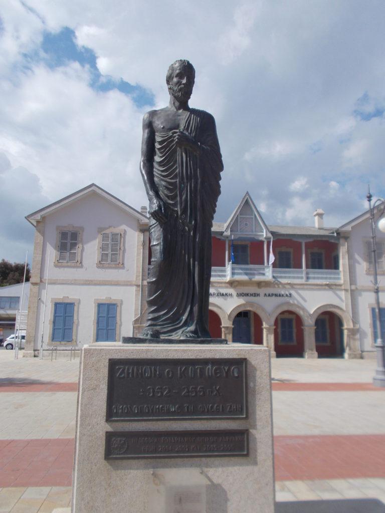 Zeno of Kition Statue